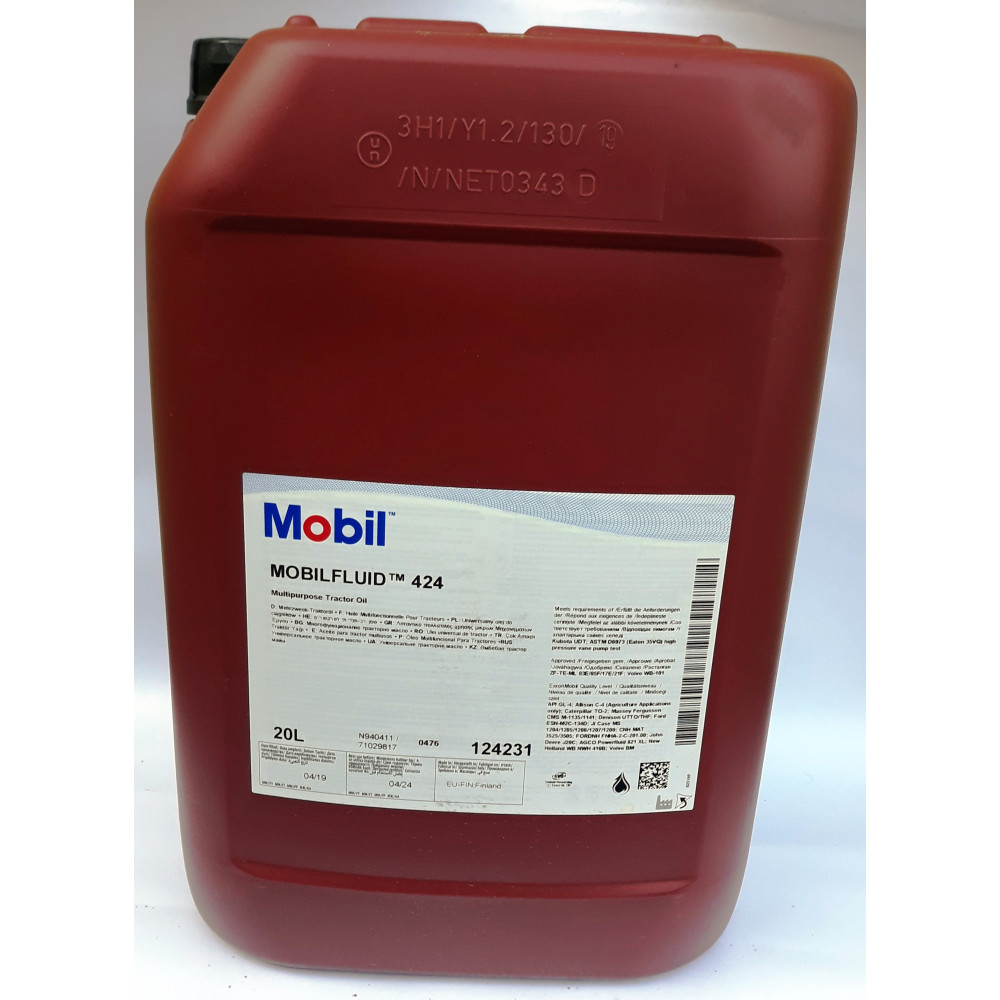 Трансмиссионное масло Mobilfluid ATF-424 20L Маниту (Manitou)